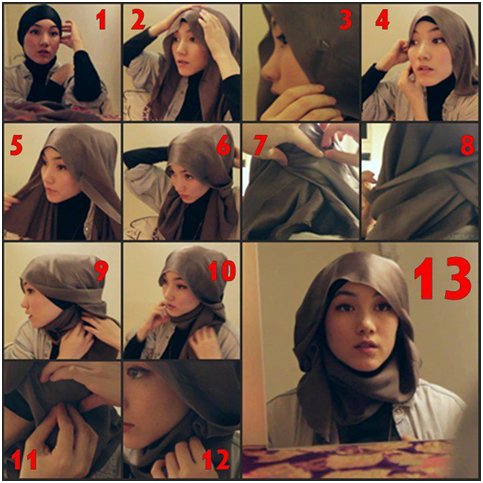 Tutorial Hijab 1 Jilbab Cantik Hijab Style Kerudung